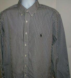 Ralph Lauren Men's Dress Shirt 17.5/35 Classic Fit Cotton