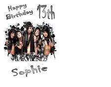 """PERSONALISED BLACK VEIL BRIDES BIRTHDAY CAKE TOPPER A4 ICING SHEET 10""""x8"""" IMAGE"""