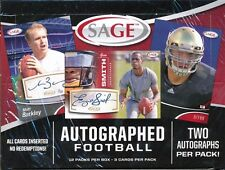2013 SAGE AUTOGRAPHED SEALED FOOTBALL HOBBY BOX