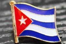 CUBA Cuban Metal Flag Lapel Pin Badge *NEW*
