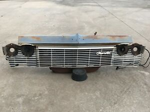 1965 Impala Grill Core Support Headlight Buckets Bezels Brackets Hood Latch