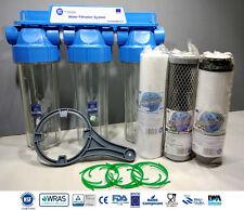 """3 Livello Casa Filtro acqua ad alto flusso dechlorinator rimozione di cloro 3/4"""""""