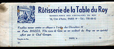 "PARIS (IX°) RESTAURANT ""ROTISSERIE DE LA TABLE DU ROY"" CHEQUE CADEAU Porto ROZES"