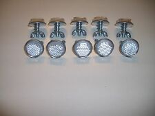 "10 Silver Goliath Tool Mini Bicycle Reflectors 7/8"" Diameter with Wing nuts"