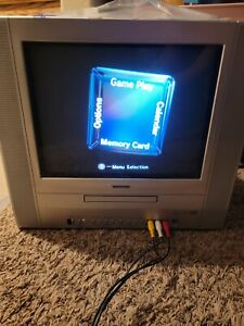 Retro Gaming 14 inch Television Toshiba TV/DVD combo CRT MD14FP1 w/ RCA input