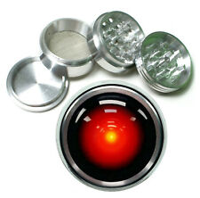 Hal 9000 Rs1 Themed Aluminum Herb Grinder 63mm 4 Piece Hand Mueller