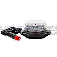 Lightbar UK Magnetic Mount Clear R65 Rotating Flashing Amber LED Strobe Beacon