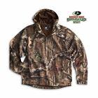 White Bear Mossy Oak Camo Pullover Hoodie Long Sleeve 1/4 Zip Soft Shell 4671