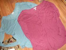 lot 2 VS Victoria Secret PINK super soft / modal top shirt ~lace up front medium