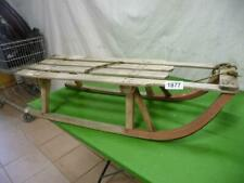 1877. Alter Schlitten Holz Rodel old sledge
