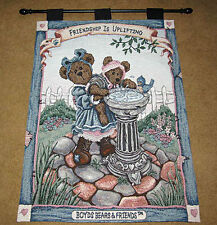 Boyds Bears Friendship Is Uplifting Tapestry Wall Hanging