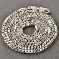 """23-24"""" Silver White Gold Plated Mens Boys Box Chain Necklace Hip Hop Jewelry"""