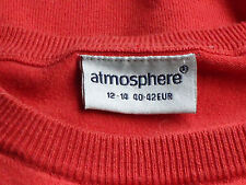 ATMOSPHERE RedOrangeStripeS/sl32%CottonMix Sz12-14/40-42