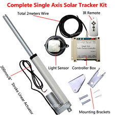 Single Axis Complete Electronic Sunlight Track Solar Tracker Tracking System Kit