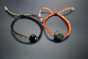 Black Eight Trigrams Obsidian Bracelet Obsidian Bagua Bracelet Octagon Obsidian