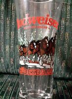 BUDWEISER HOLIDAY CLYDESDALE  BEER GLASS