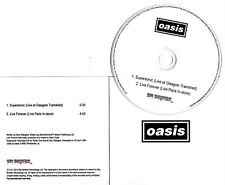 OASIS Supersonic Live Forever 2014 UK 2-trk promo CD live 1994