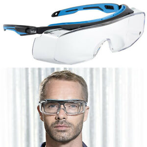 Bolle Safety Glasses TRYON OTG Fit Over Spectacles Clear Lens Protective Eyewear