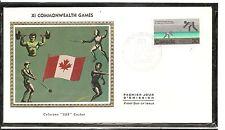 Canada SC # 762 XI Commonwealth Games FDC . Colorano Silk  Cachet