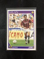 Paolo Maldini Score 1992 Italian League Soccer Football CardMINT Pack Fresh!