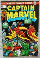Captain Marvel #27, VF- 7.5, Thanos, Infinity War/Endgame