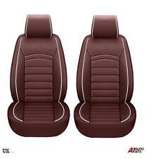 UNIVERSAL di alta qualità Deluxe Marrone PU Pelle Anteriore Car Seat Covers imbottito