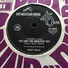 "MARY WELLS - YOU LOST THE SWEETEST BOY - - Rare 1963 Australian 7""  Funk Soul"