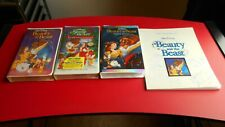 Beauty and The Beast - Black Diamond,Enchanted Christmas,Special Edition VHS