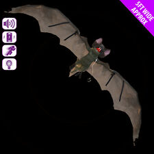 ANIMATED HORROR BAT 5FT WING-SPAN W/ LIGHT, SOUND & MOVEMENT. HALLOWEEN PROP.