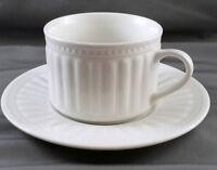 Oneida Athena Tea Coffee Cup and Saucer White Stoneware Majesticware 8 oz