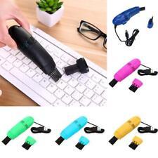 Mini Computer Vacuum USB Keyboard Cleaner PC Laptop Kit Tool Brush Dust Cle K4B0