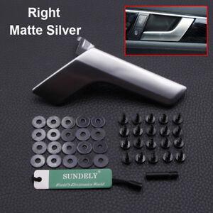 Right Inner Interior Matte Silver Door Handle Kit For Mercedes W204 2008-2014