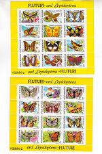romania 1991 Sc 3696/7 two M/S,butterflies,MNH          h935