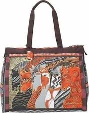 Laurel Burch Moroccan Mares Horse Zip Purse Travel Bag Handbag Tote