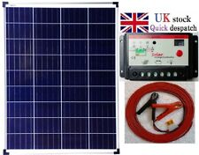120w PV Solar Panel + 10A Charger Controller + 6m cable +  fuse + battery clip