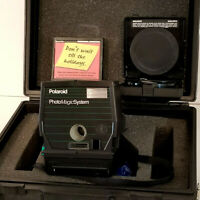 Polaroid Instant Photo Magic System  Camera  with Case Button Cutter VINTAGE
