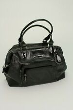 LONGCHAMP Large Black Leather Handbag Paris France E/0112
