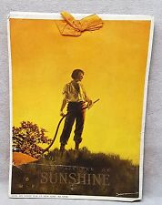 1916 Maxfield Parrish Calendar of  Sunshine.