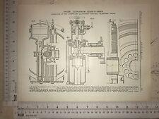 Ljungstrom Steam Turbine: Made In Sweden: 1912 Engineering Magazine Print