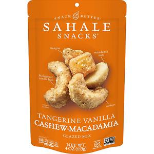 Sahale Snacks Tangerine Vanilla Cashew Macadamia Glazed Mix, 4 Ounces Pack of 6