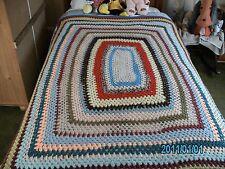 Vintage Mano Crochet Manta de 44 x58 pulgadas