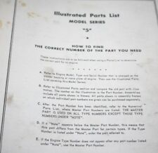 Briggs & Stratton Illustrated Parts LIst Manual for the Antique Letter Series