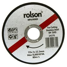 Rolson 115mm Angle Grinder Grinding Cutting Disk for Stainless Steel 24370