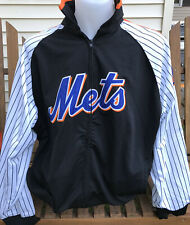 NEW YORK Mets MLB BASEBALL Majestic Stitches Running Jacket embroidered 2X
