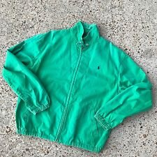 Vintage Polo Ralph Lauren Sport GREEN DENIM Zip Up Jacket Size M
