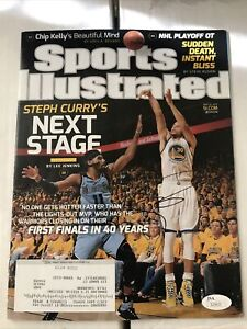 Stephen Curry Sports Illustrated Magazine signed autographed JSA COA