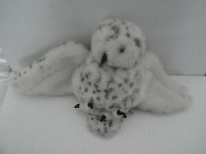 FOLKMANIS WHITE SNOWY OWL FUR  HAND GLOVE PUPPET TOY  SWIVEL HEAD  HARRY POTTER