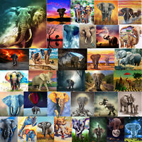 5D Full Drill DIY Diamond Painting Elephant Cross Stitch Embroidery Home Art Kit