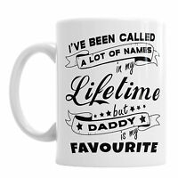 Daddy Is My Favourite Father's Day Coffee Tea Cup Office Dad Birthday Mug Gift