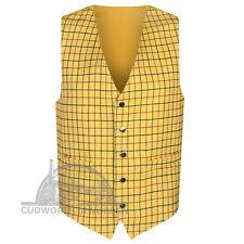 Wool Checked Tweed Waistcoat - 36